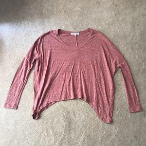 3/4 Sleeve Distressed Shirt